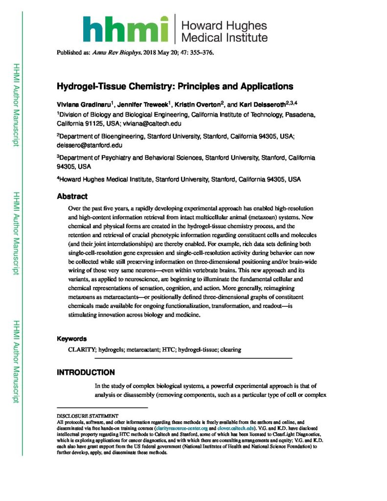 Hydrogel-tissue-chemistry-principles-and-applications.-Annual-Review-of-Biophysics-2018