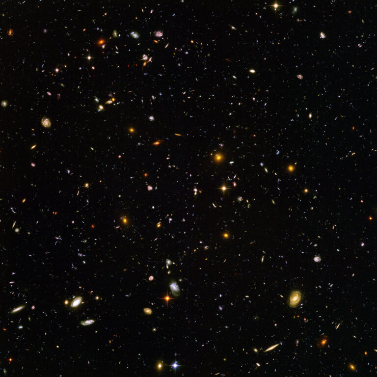 Image from Hubble Ulta Deep Field Telescope in 2004