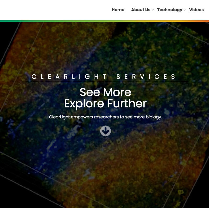 ClearLight Biotechnologies Services Screenshot