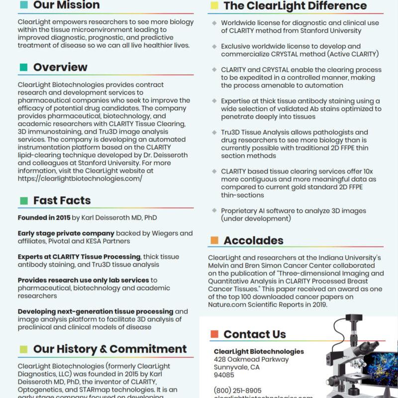 ClearLight Company Fact Sheet Thumb