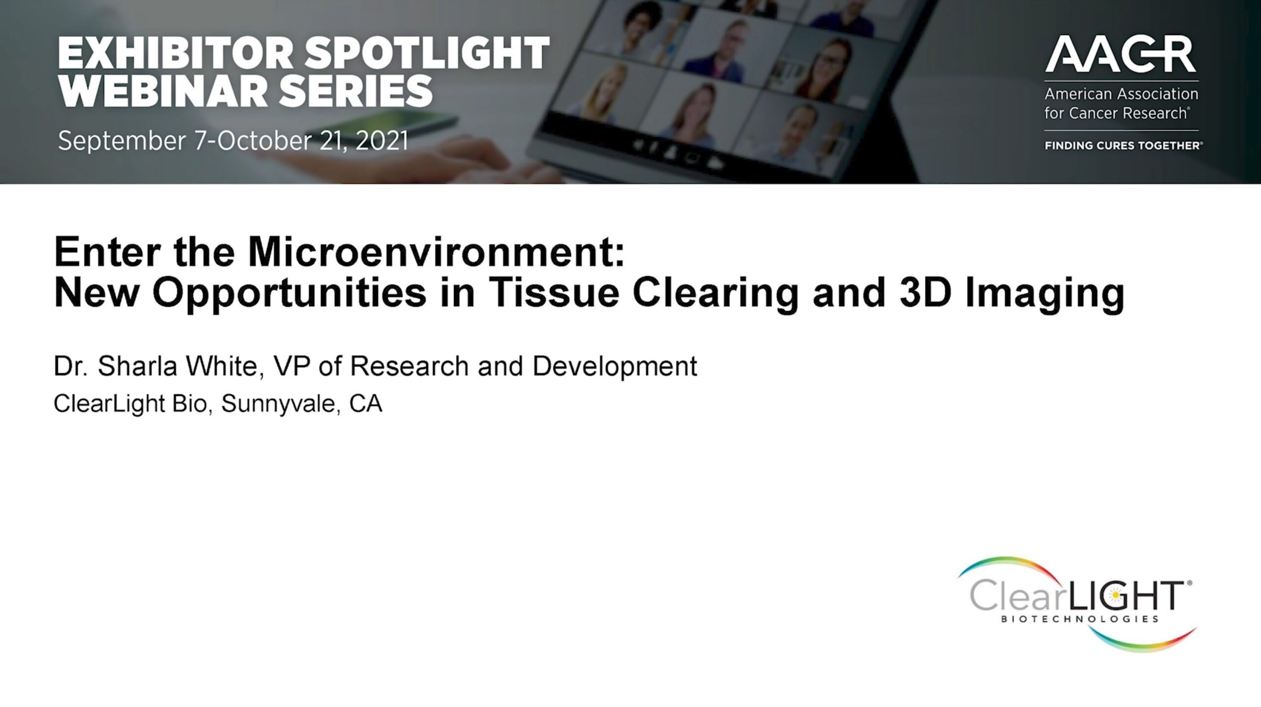 AACR Webinar with ClearLight Bio